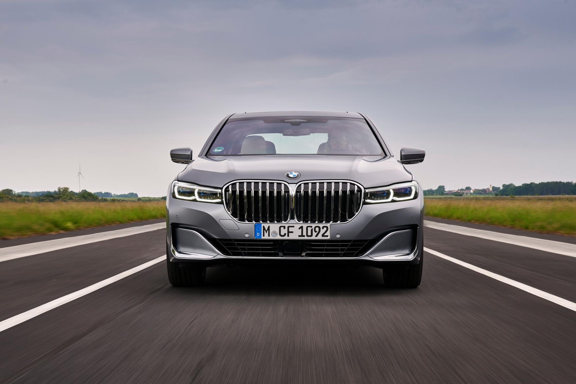 BMW 7シリーズのフロントビュー